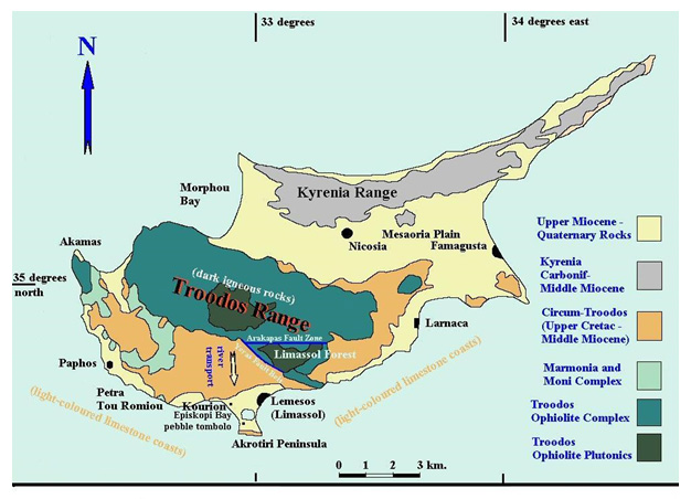 CNAP overview of the geology of Cyprus West 2007